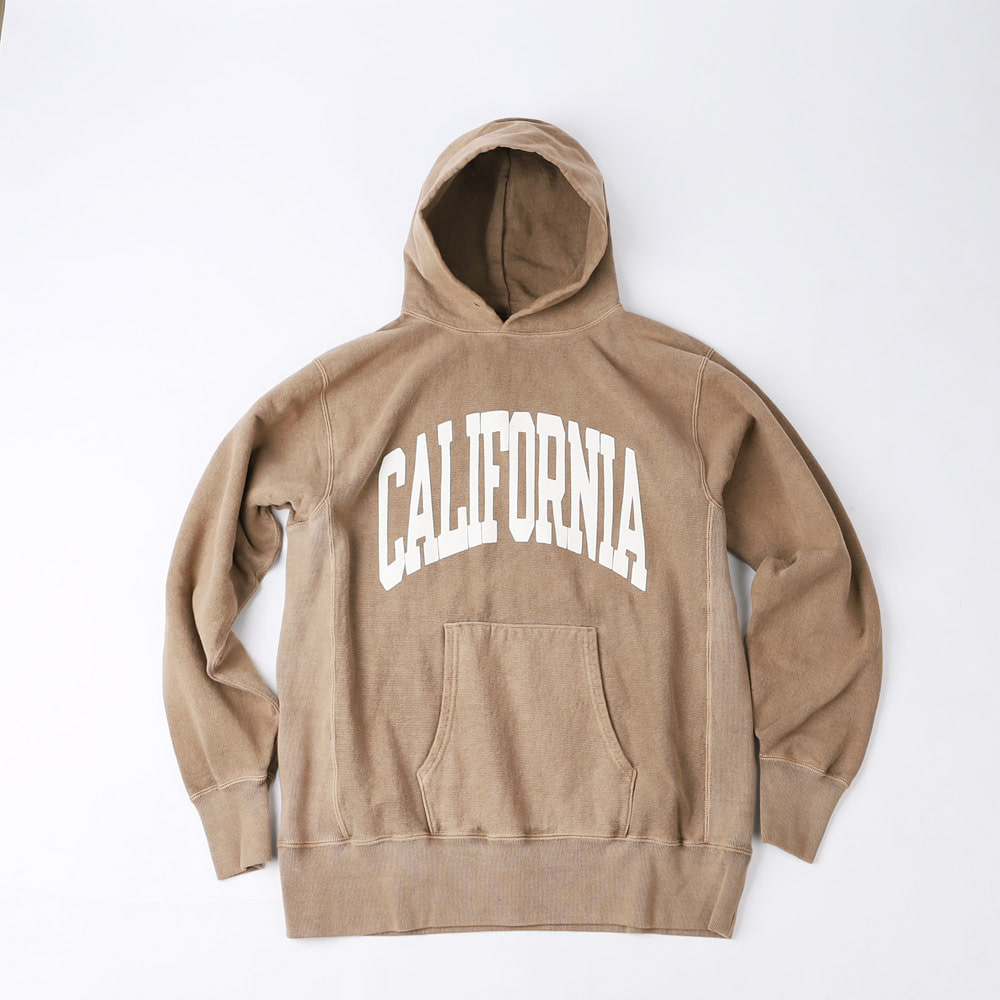 REVERSEWEAVE PRINTED HOOD SWEAT (Sand)
