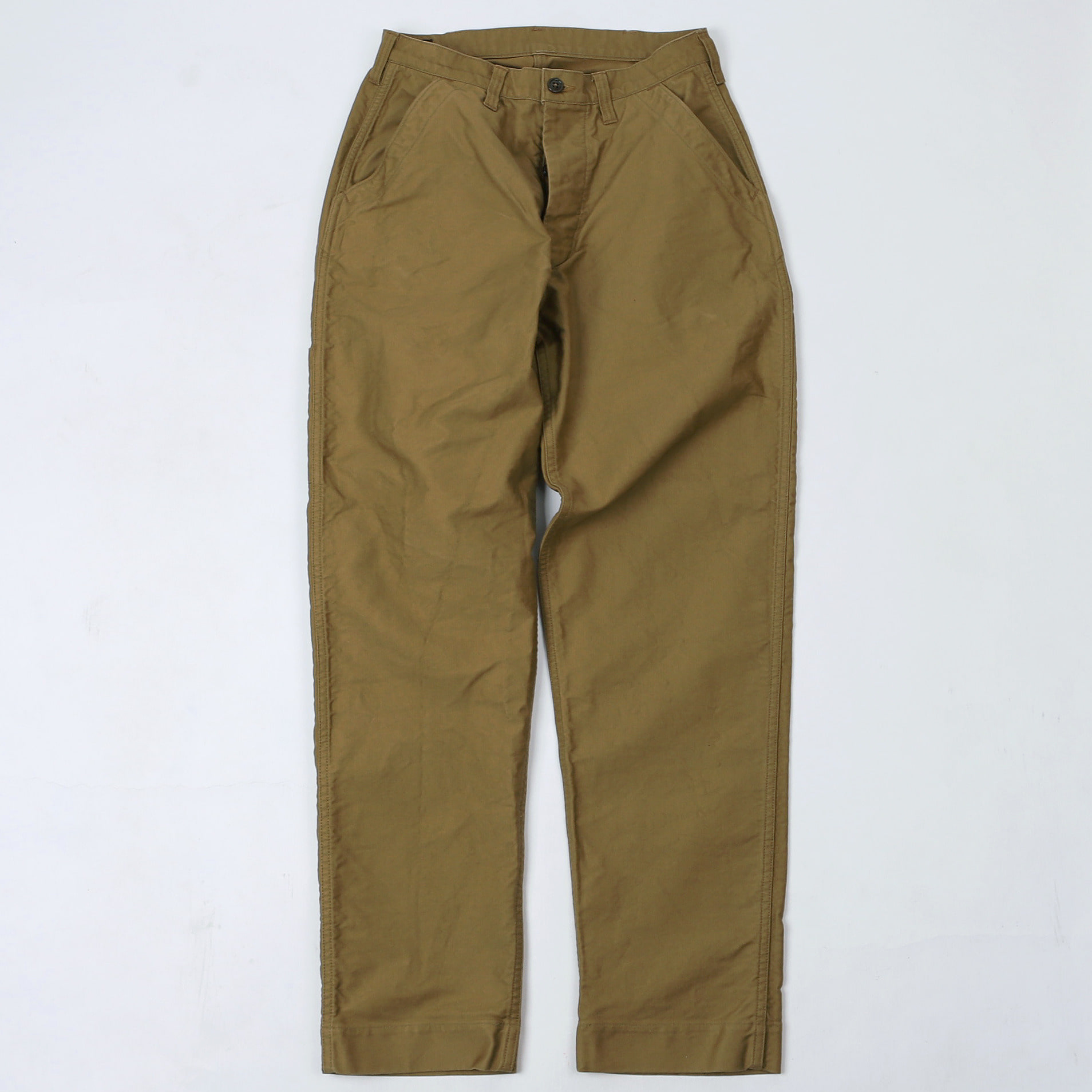 "[Union Special Overalls]Military Work Pants""U.S.N UTILITY TROUSERS""(Khaki Beige)"