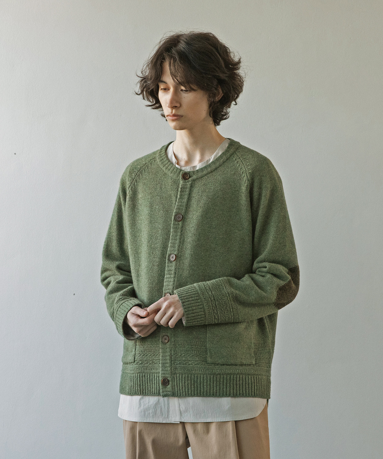 A/O 21SS Gentle Link Cardigan (Green Bean)
