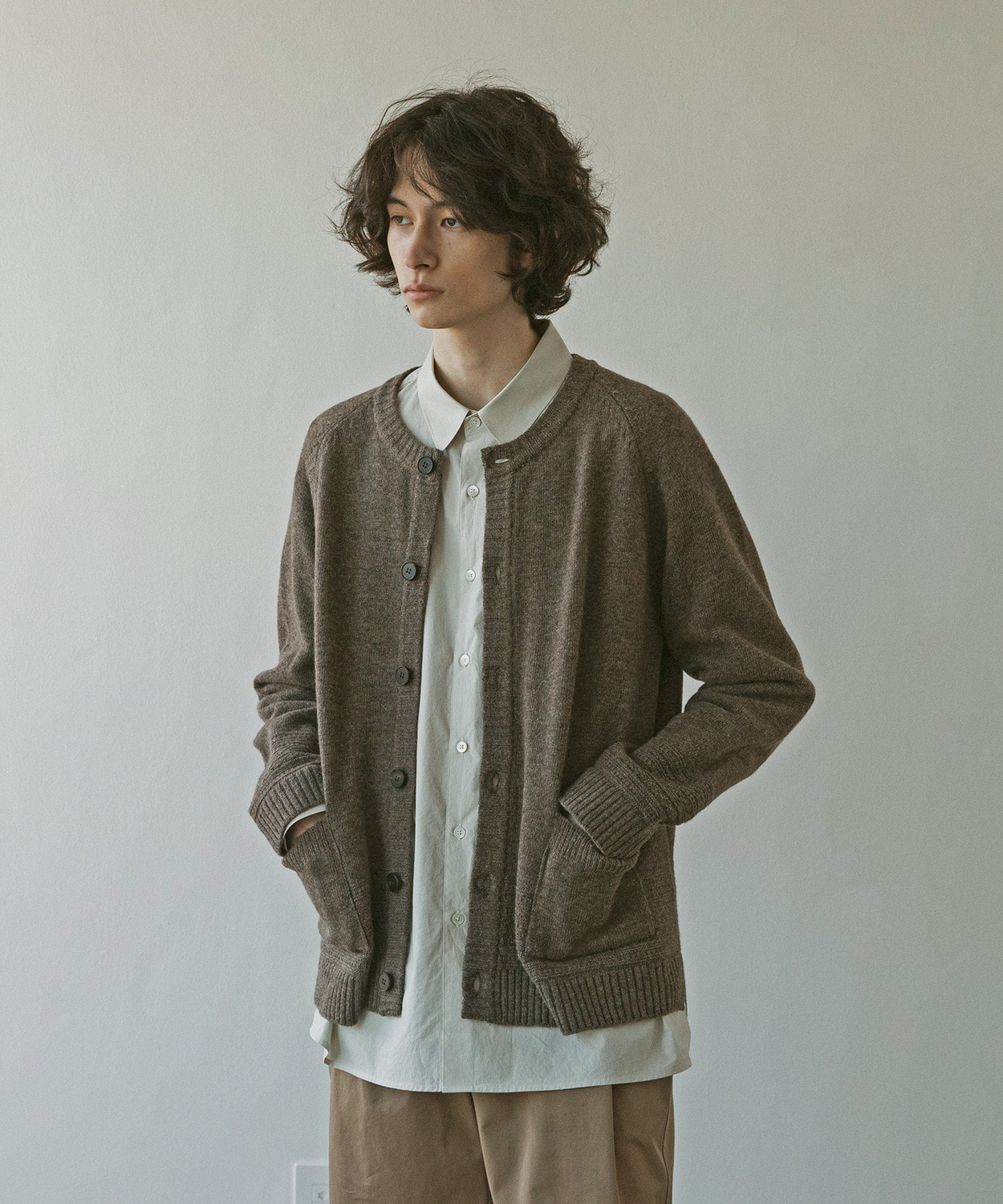 A/O 21SS Gentle Link Cardigan (Earth)