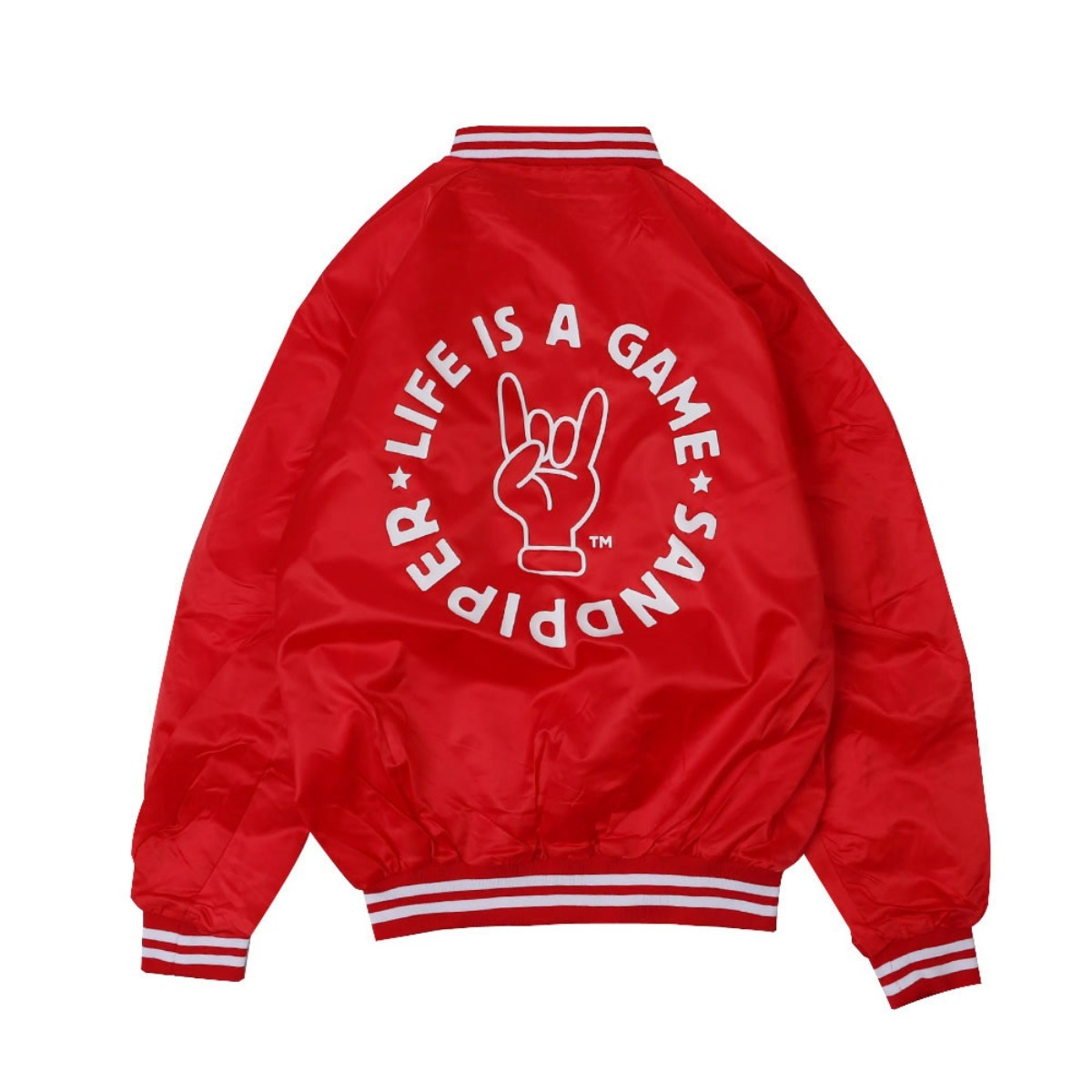 LIFE IS A GAME BASEBALL JACKET (Red CARDINAL ACTIVE WEAR)