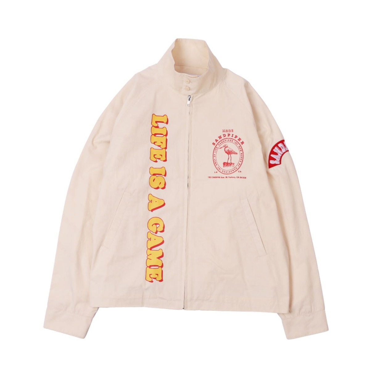 LIFE IS A GAME DRIZZLER JACKET (Beige)